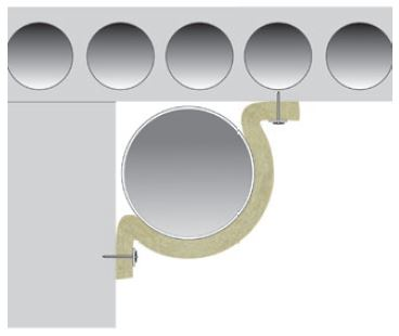 Fire insulation circular duct