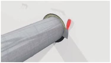 Fire insulation of circular ducts