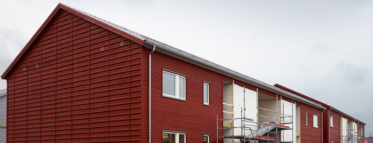 Multi family houses in Kungsbacka using Paroc Hvac AirCoat for the ventilation insulation.
